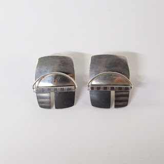 Sterling Silver Modernist Earrings