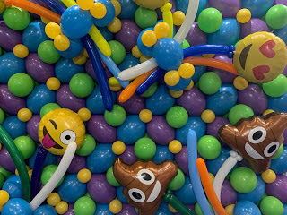 Emoji Balloon Wall by Alberto Falcone