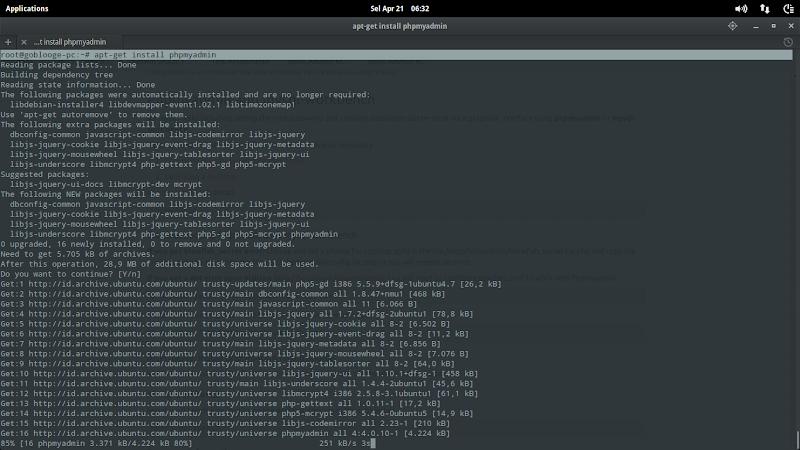 Menginstall PHPMyAdmin