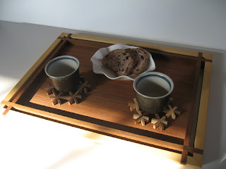 トレー長方形 (L) チーク tea tray rectangle (L) teak