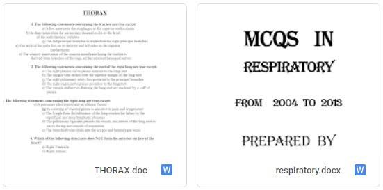 Respiratory system MCQ