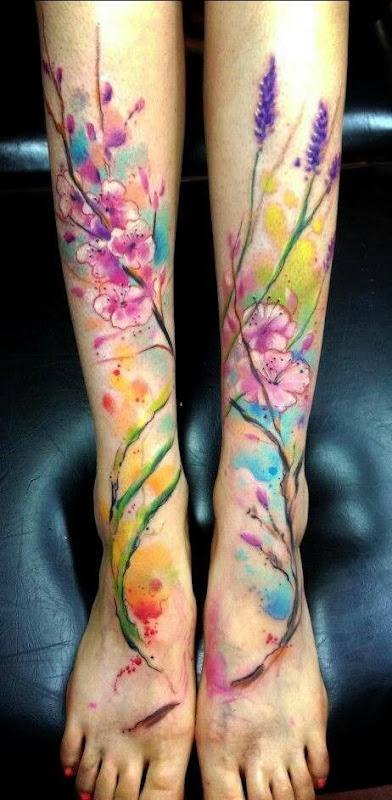 aquarela_lavanda_perna_tatuagem