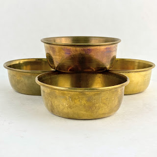 This Co. NEW Brass Round Set Of 4 Bowls