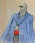 068 - Le Dandy - 1996 78 x 100 - Aquarelle et lavis sur carton
