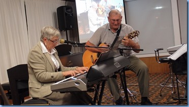 Jeanette Harding and Kevin Johnston played some boogie woogie for us. Photo courtesy of Dennis Lyons.