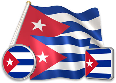 Cuban flag animated gif collection