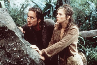 Romancing The Stone (1984) Directed by Robert Zemeckis Shown: Michael Douglas, Kathleen Turner