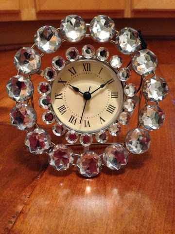clock with bling
