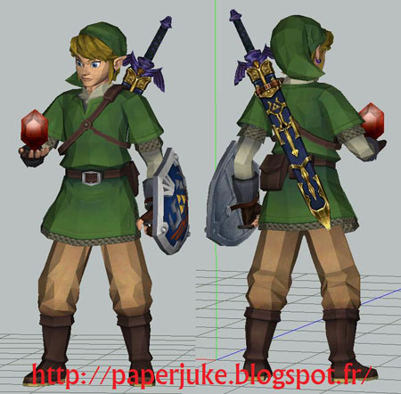 Skyward Sword Link Paper Model