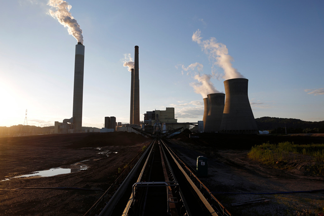 A power plant in Winfield, W.Va. President Trump is expected to propose new emissions rules at a rally in the state Tuesday. Photo: Luke Sharrett / Bloomberg