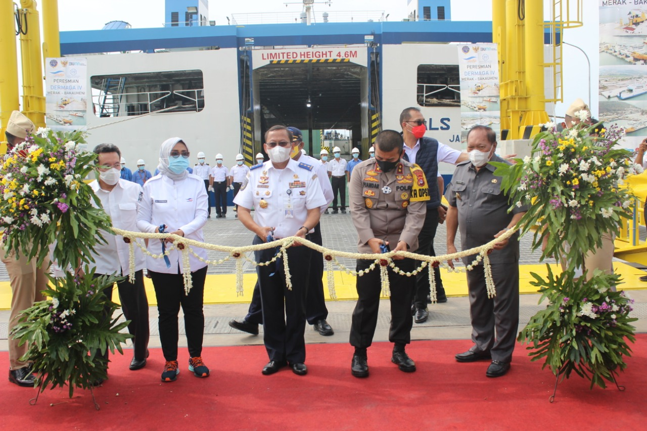 Kapolda Banten Hadiri Peresmian Dermaga IV Pelabuhan Merak dan Bakauheni