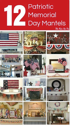 Patriotic memorial day mantels