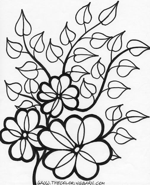 Flower Vines Coloring Page Wild Printable  Free Coloring Pages For Kids