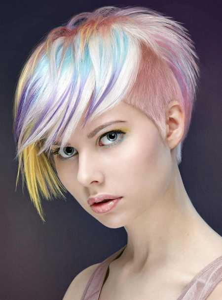 Stylish short asymmetrical pixie haircut - Short Hair Cutting Hair Color Trends 2017 Styles Art