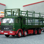 The ERF B-series cab is from Road Transport Images and is one of the special limited run versions without the headboard. The generator set and frame body are Doug Roseaman kits but the latter had to be modified as it is designed to fit an Atkinson and the ERF cab is taller. The lorry itself is largely complete but it will ultimately tow a frame trailer and paybox and be loaded with parts of a dodgem track.
