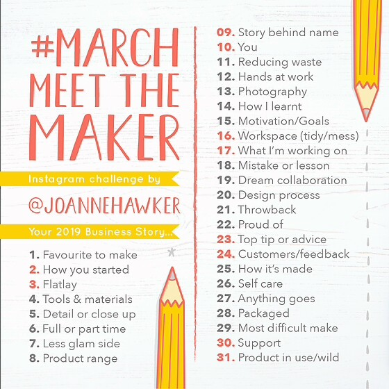 Hashtag March Meet The Maker