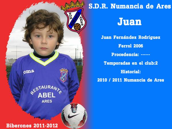 A. D. R. Numancia de Ares. Biberones 2011-2012. Juan