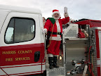 Santa comes to Ellerslie - escorted by the Ellerslie Fire Department!