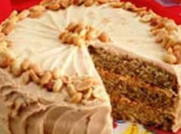 Triple Layer Banana Cake /w Peanut Butter Fudge Icing Recipe