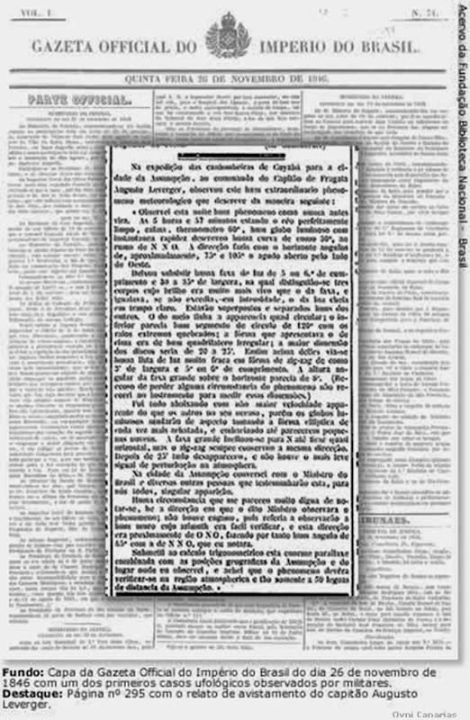 Primeiro relatório oficial de OVNI no Brasil de 1846 00