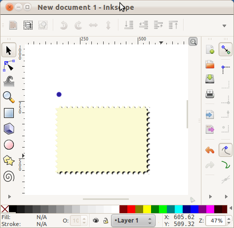 the finished postage stamp in inkscape