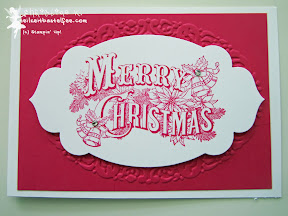 case a christmas card, stampin up, christmas postcard, prägeform weihnachtskranz, apothecary accents