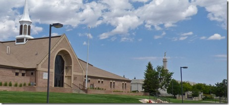 Mormon Church and Mormon Temple, Monticello Utah