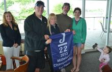 J22 Midwinters champions- Allen Terhune and Dazzler crew