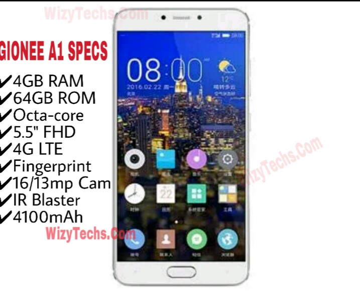 Gionee A1 Full Specs, Features, Image & Price