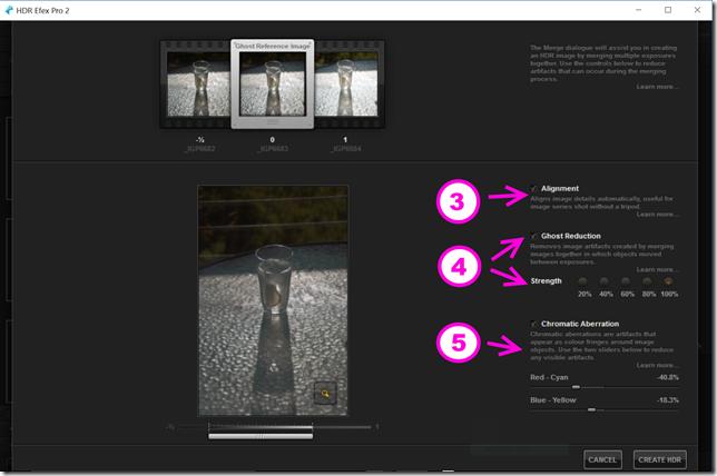 Merge controls in NIK HDR Efex Pro 2