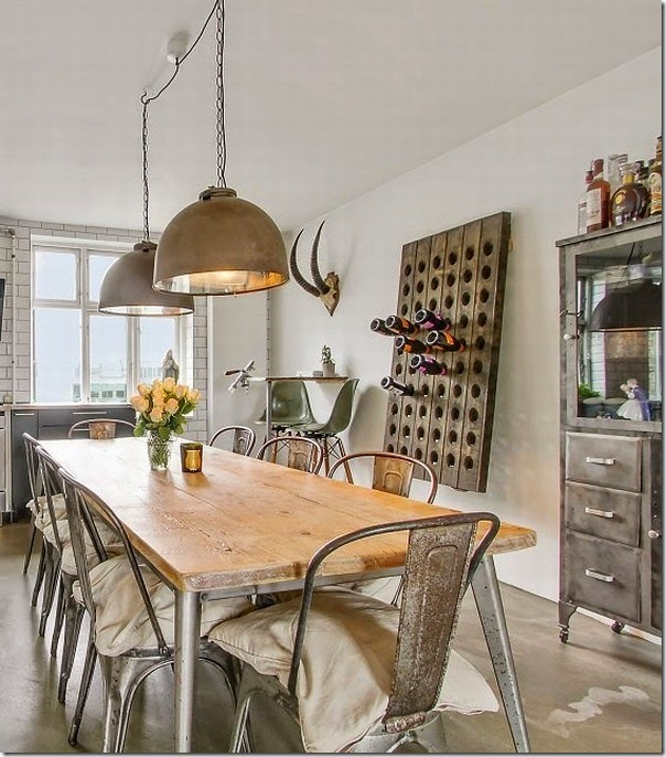 case e interni - loft - stile scandinavo - industriale