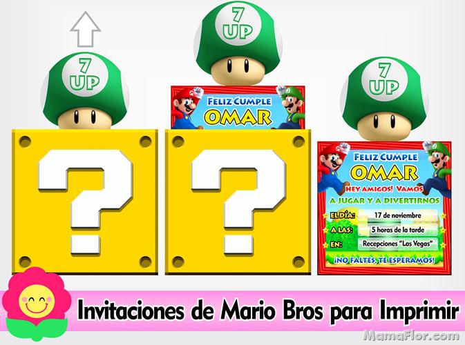 Invitaciones Mario Bros