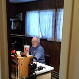 Terry W8ZN preparing station for VaQP