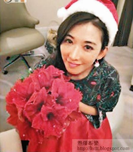 林志玲一身打扮自言似聖誕樹。