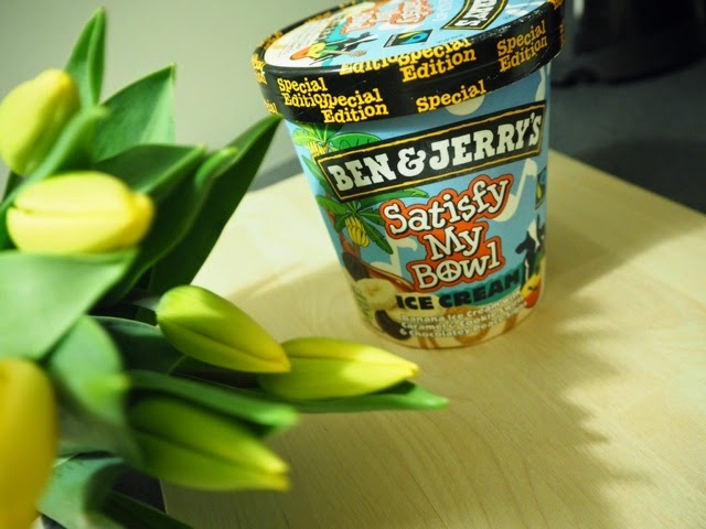 ben and jerrys, b & j:s, ben &Jerry's, ice-cream, jäätelö, purkki, satisfy my bowl, special edition, legendary, tulips, flowers, yellow, keltainen, tulppaani, kukka, viikonloppu, herkut, treat, weekend,