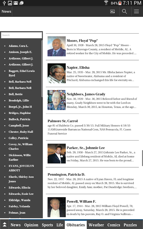 The Press-Register - screenshot