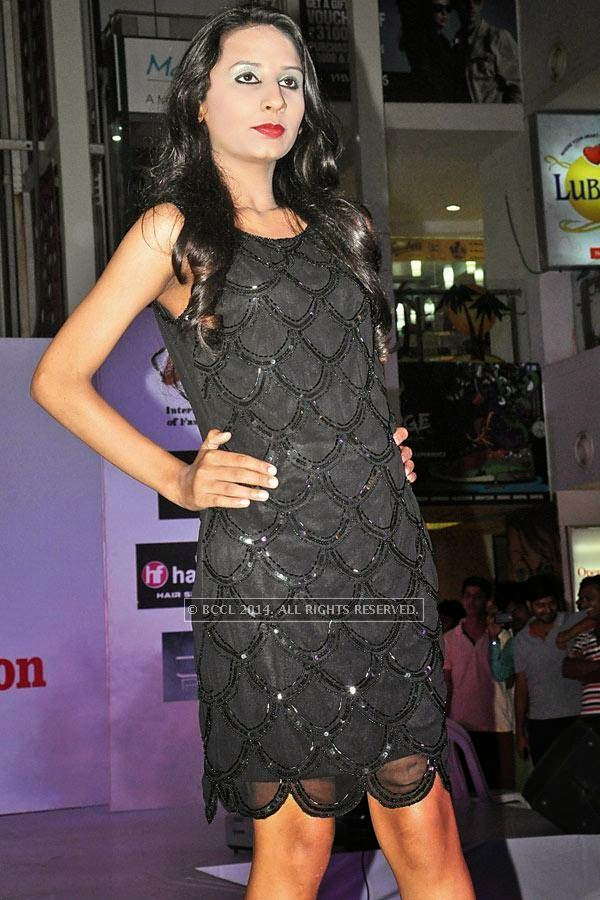 Rashmi during a fashion show, held at a city mall in Raipur.