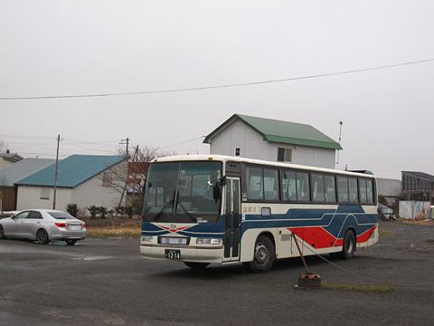 沿岸バス「豊富留萌線」 1214 豊富駅到着