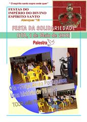 FESTA SOLIDARIEDADE OTA - PALESTRA