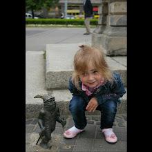 Photo: 15  V 2012 roku -  trzyletnia  Amelka  pzy wrocławskim krasnalu