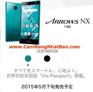 Điện thoại ARROWS NX của nhà mạng Docomo Nhật Bản