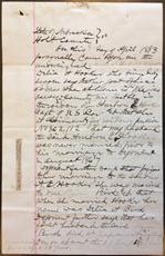 Delia A. Hooker的宣誓书,1883年4月24日,P. 1
