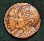 Voorkant penning Herman en Mary Gorter