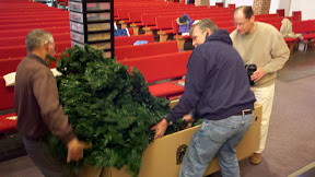 Wrangling part of the tree back into the box