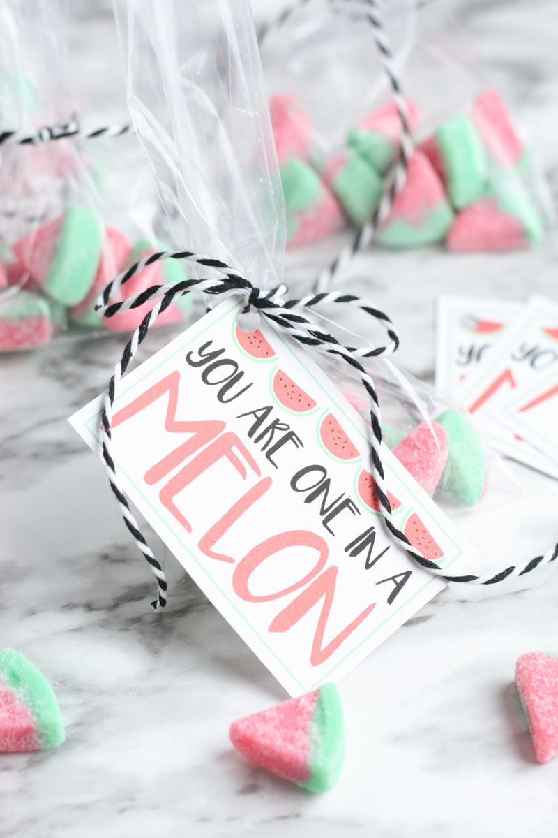 Cute watermelon slice valentine
