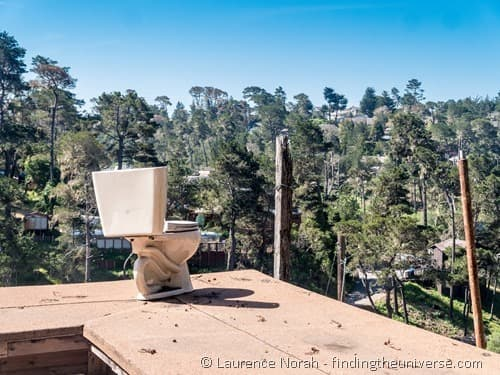 Nitt Witt Ridge house Cambria California Roof Toilet