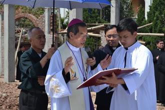 Làm phép móng xây dựng Nhà hưu dưỡng các linh mục giáo phận Phát Diệm