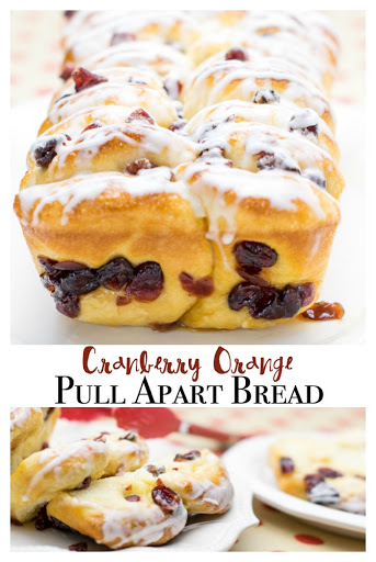 Cranberry Orange Pull Apart Bread - Major Hoff Takes A Wife