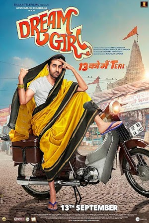 Poster Of Bollywood Movie Dream Girl 2019 300MB Pdvd Full Hindi Movie