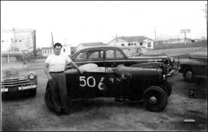 Brad Bradford, circa late 1940's to early 1950's, picture from www.hotrodhotline.com